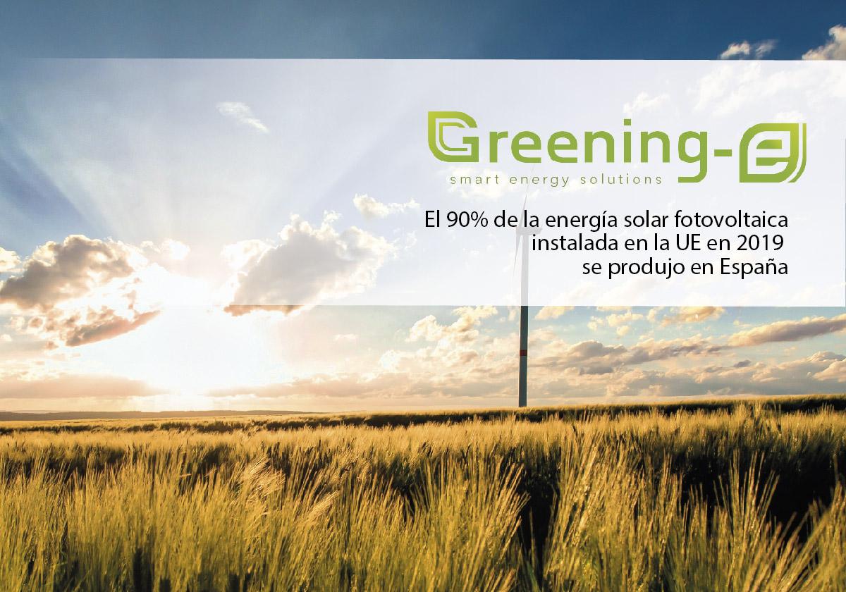 El 90% de la energía generada en la UE se produjo en España