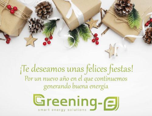 Greening-e os desea unas felices fiestas y un próspero año 2021