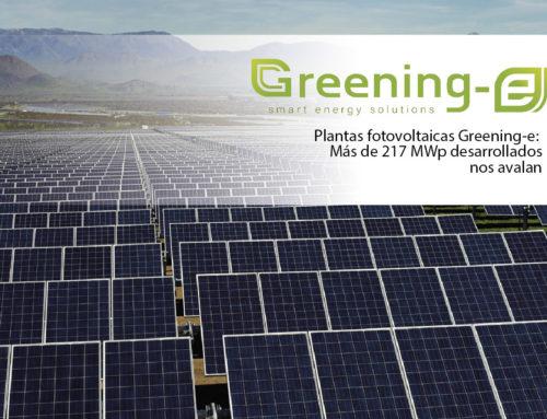 Plantas fotovoltaicas Greening-e: Más de 217 MWp desarrollados nos avalan