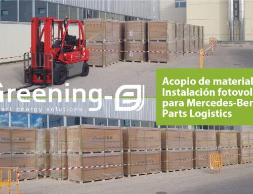 Inicio de la instalación fotovoltaica de autoconsumo para Mercedes-Benz Parts Logistics