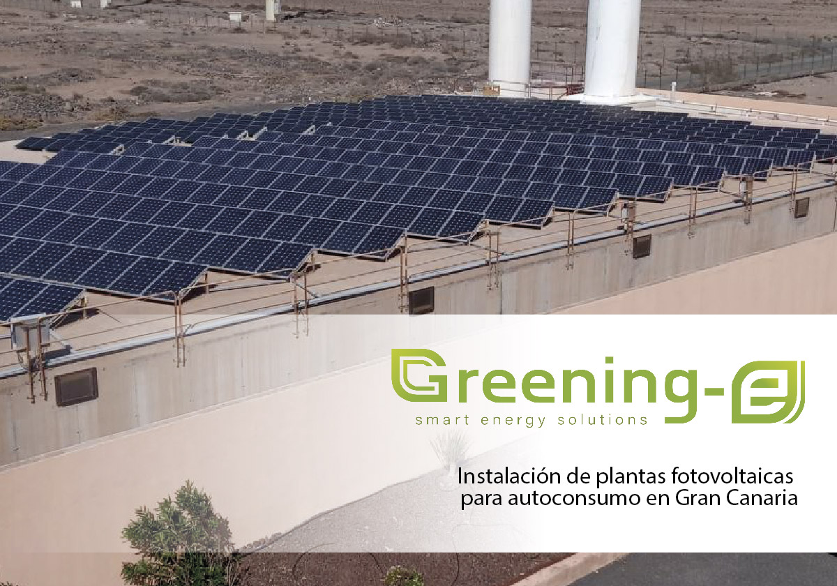 instalaciones fotovoltaicas Greening-e en Canarias