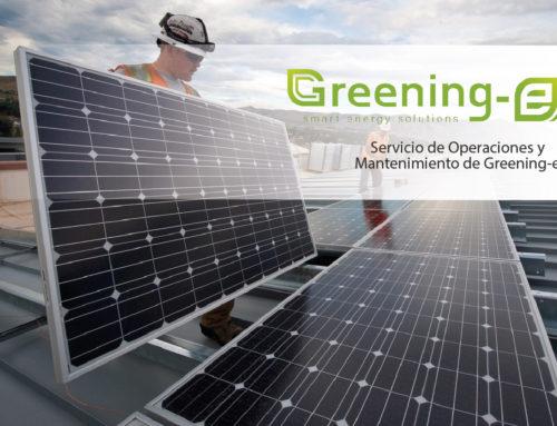 Servicio de Operaciones y Mantenimiento de Greening-e en el mes de enero