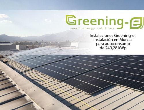 Instalación fotovoltaica en Murcia para autoconsumo de 249,28 kWp