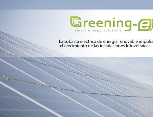 La subasta eléctrica de energía renovable impulsa el crecimiento de las instalaciones fotovoltaicas