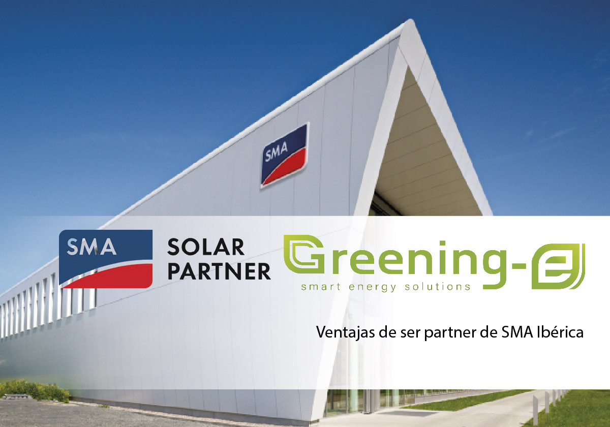 Greening-e pasa a ser solar partner de SMA Ibérica