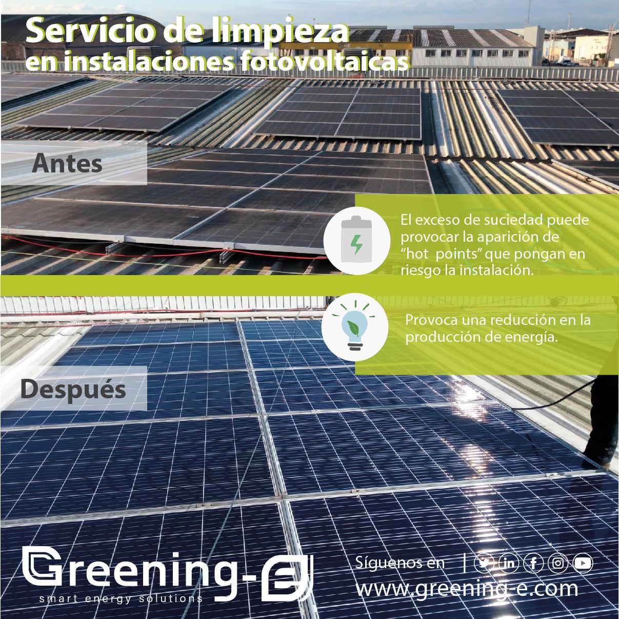 servicio de limpieza de paneles solares