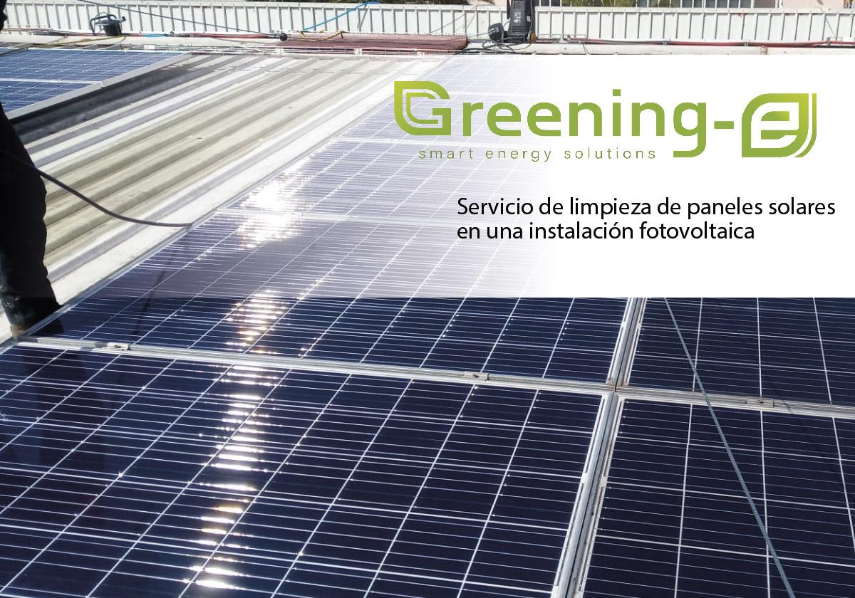 limpieza de paneles solares departamento de Operaciones y Mantenimiento (O&M) Greening-e