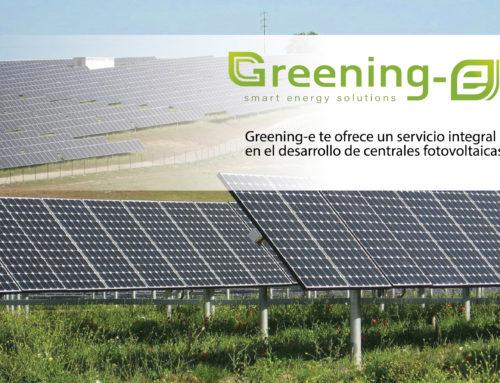Greening-e te ofrece un servicio integral en el desarrollo de centrales fotovoltaicas