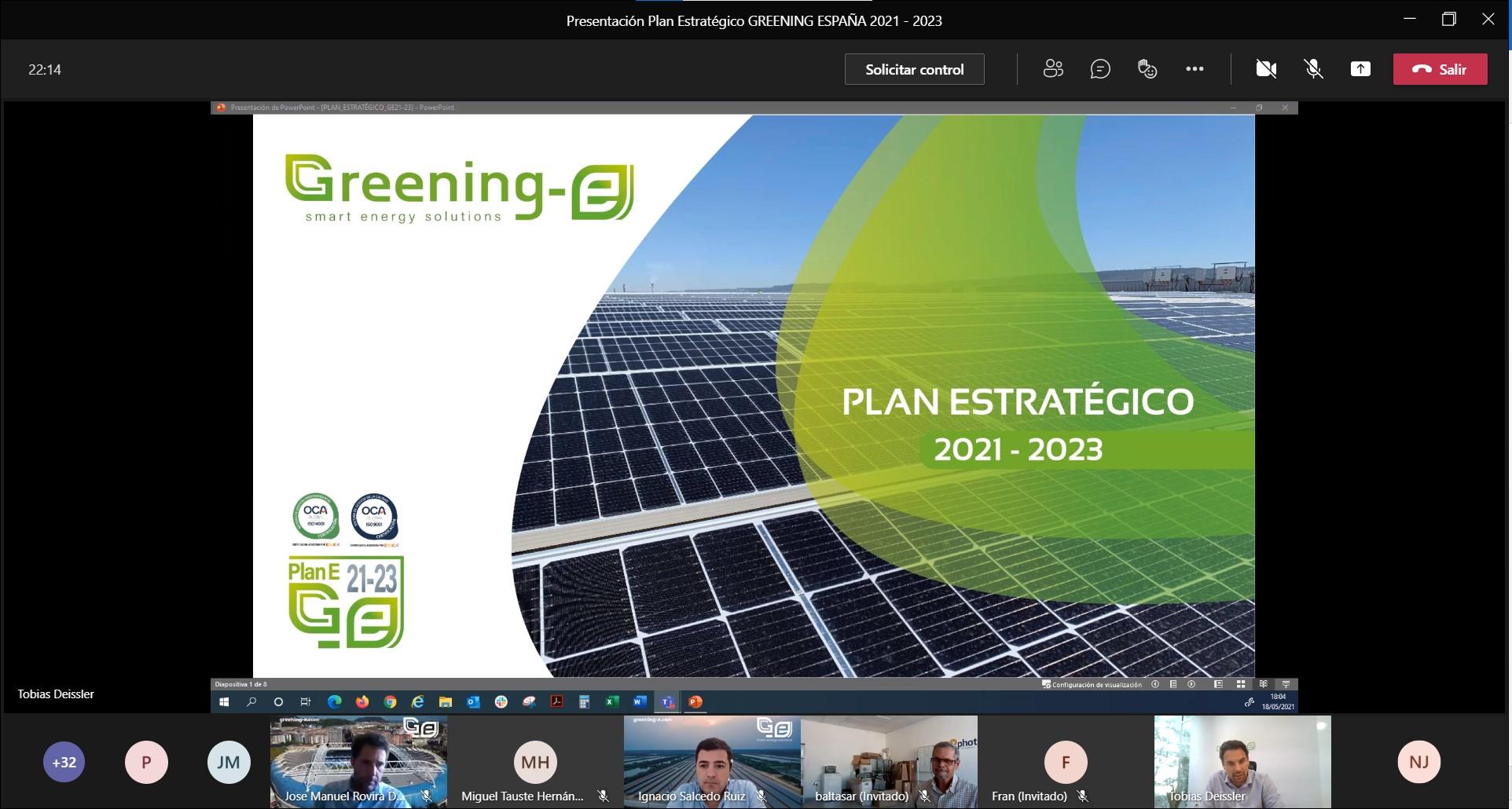 Greening-e presenta su línea de actuación para los próximos tres años