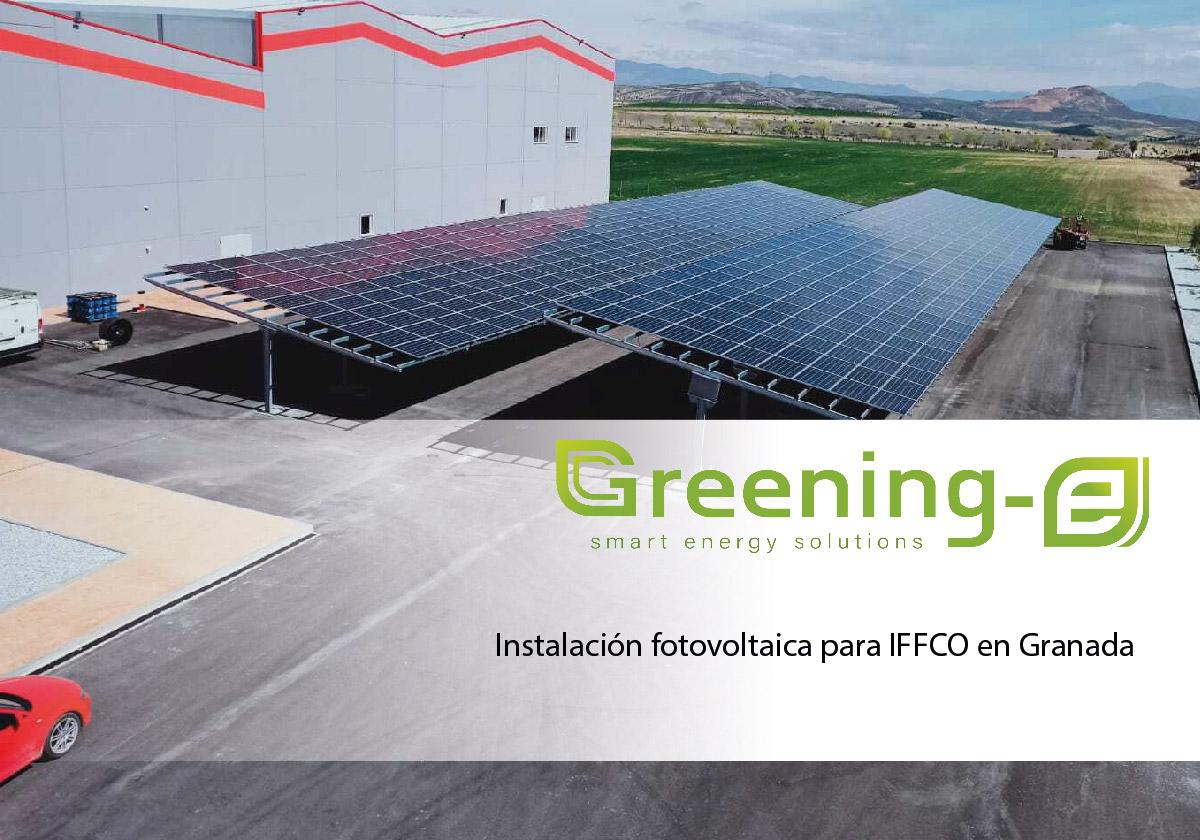 Greening-e realiza la instalación fotovoltaica de autoconsumo para IFFCO en Granada