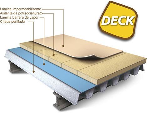 cubierta de panel deck