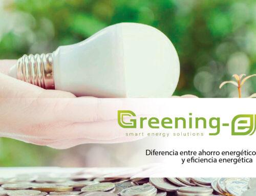 Diferencia entre ahorro energético y eficiencia energética