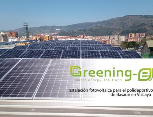 Instalación fotovoltaica para el polideportivo de Basauri en Vizcaya