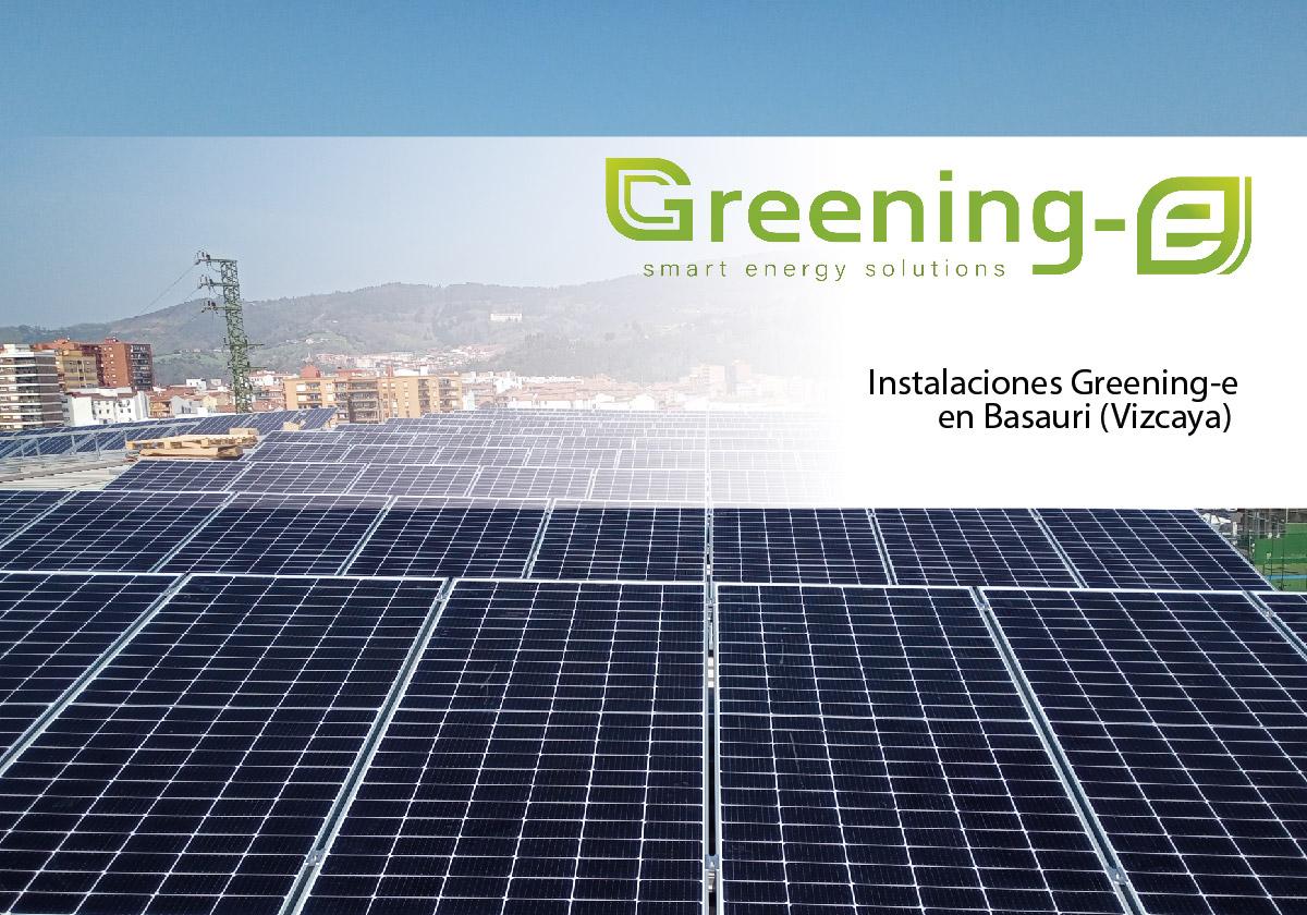 instalación fotovoltaica en el polideportivo de Basauri