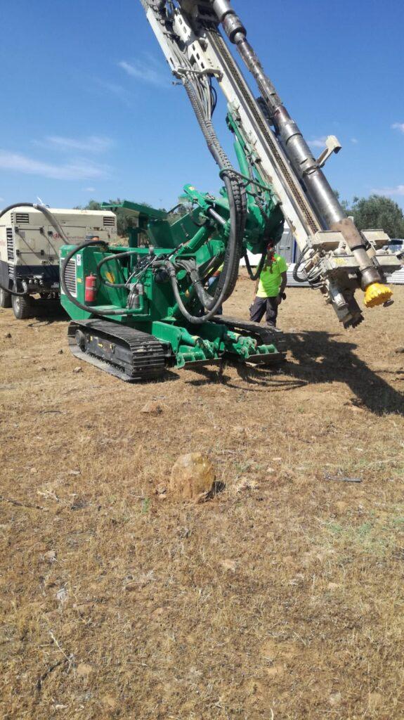 drilling planta solar Greening-e Badajoz