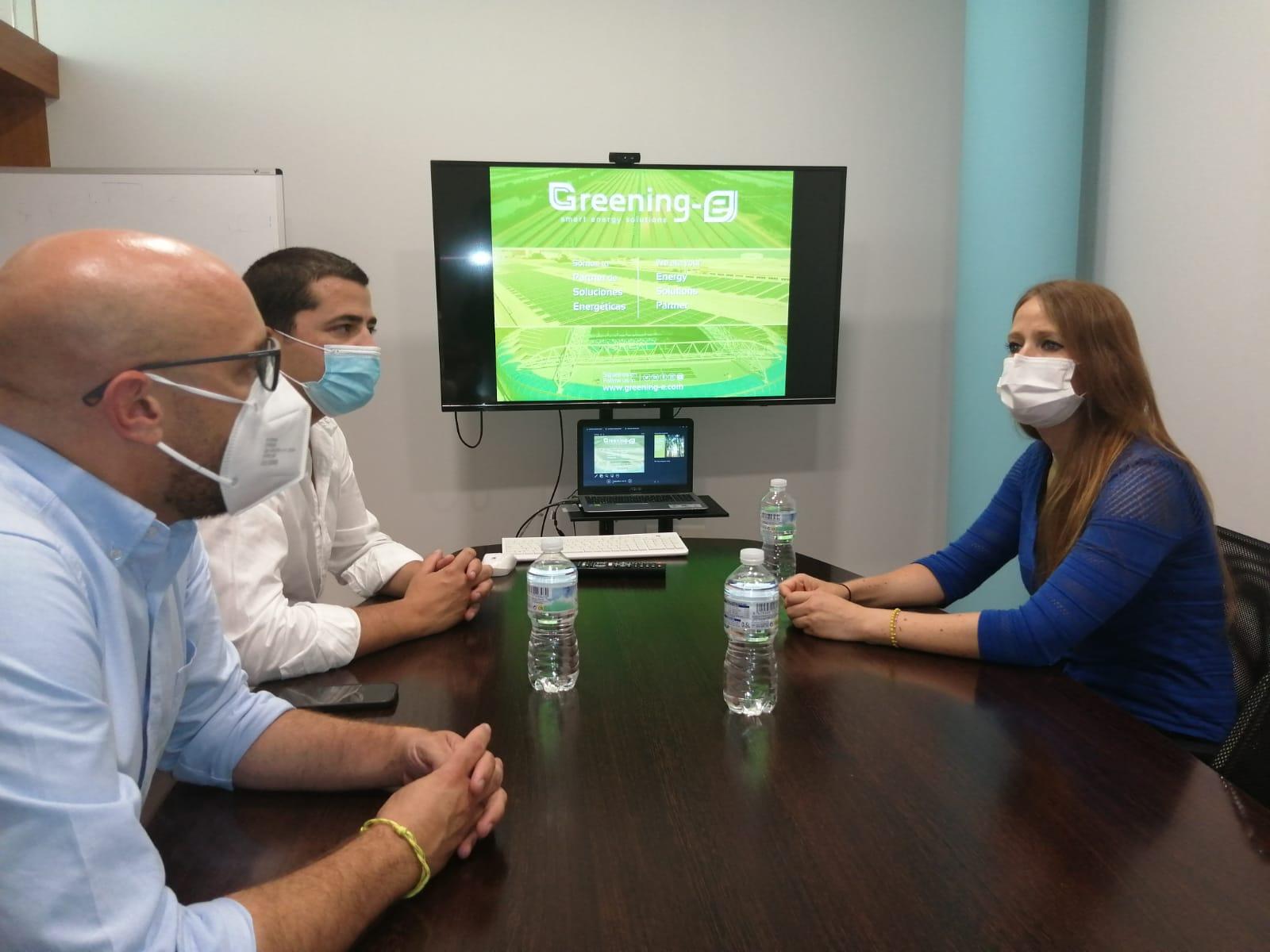 reunión con la delegada de empleo del gobierno junta de andalucia en greening