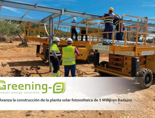 Avanza la construcción de la planta solar fotovoltaica de 5 MWp en Badajoz