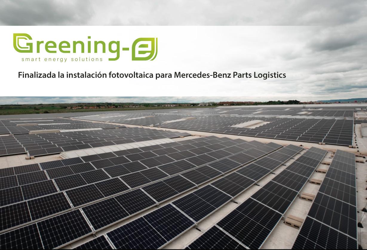 Instalacion fotovoltaica Mercedes Benz