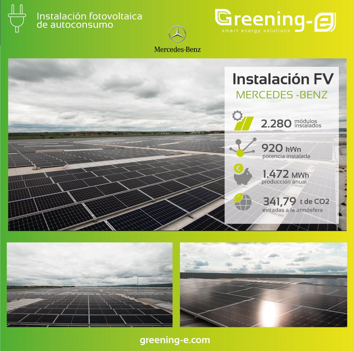 Instalaciones fotovoltaica Greening para mercedes benz