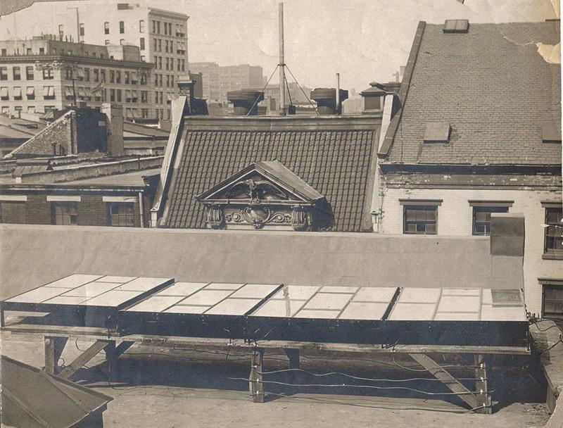 Captación de energía solar en 1883