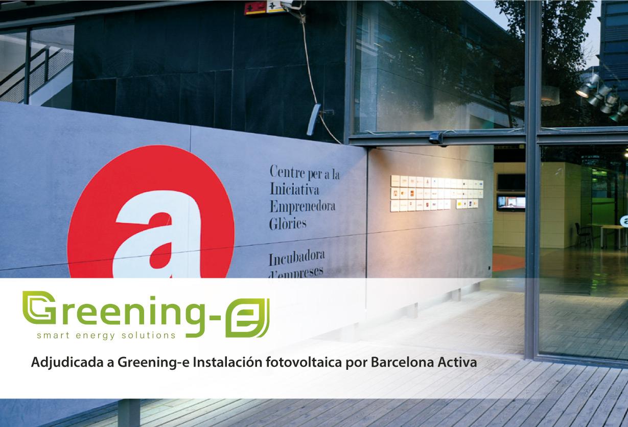 Attribué à l'installation photovoltaïque Greening-e de Barcelona Activa