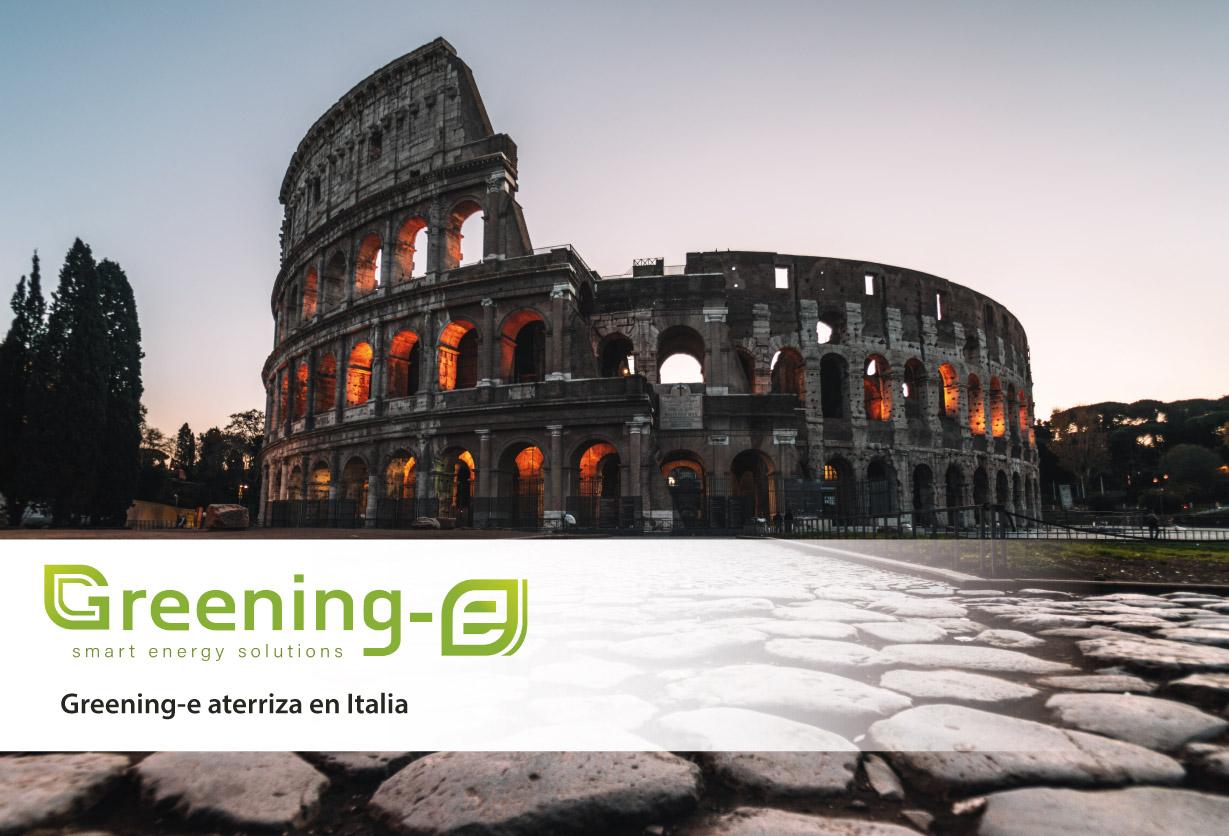 Greening-e aterriza en Italia